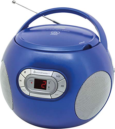 Soundmaster SCD2120BL CD-Boombox mit UKW Radio und Hörbuchfunktion