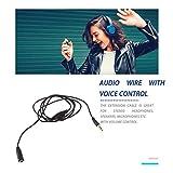 Cable alargador de audio estéreo para auriculares de 3,5 mm M/F, 1 m, con control de volumen para auriculares, altavoces, micrófonos