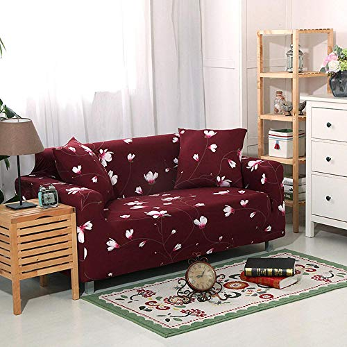 LYXGSSM High-Elastic Sofa Cover 1 Piece of Machine Washable Fashion Furniture Cover/Protector, with Spandex Jacquard Check Fabric, Non-Slip Furniture Cover,Kz-11,1 Seater