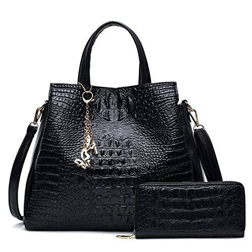 Da Donna Nuovo Grande Tote Bag con Texture Pattern Fibbia Lavoro Tutti i Giorni Borsa a tracolla