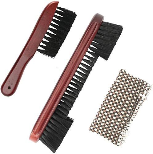 Conjunto de cepillo de mesa de billar sin desprender cerdas, conjunto de cepillo de billar 1 paquete de cepillo de riel de madera y 1 paquete de cepillo de esquina de mesa, accesorios de billar