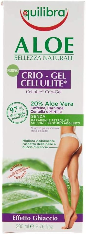 265 opinioni per Equilibra Corpo, Aloe Crio-Gel Cellulite, Gel Fresco a Base di Aloe Vera,