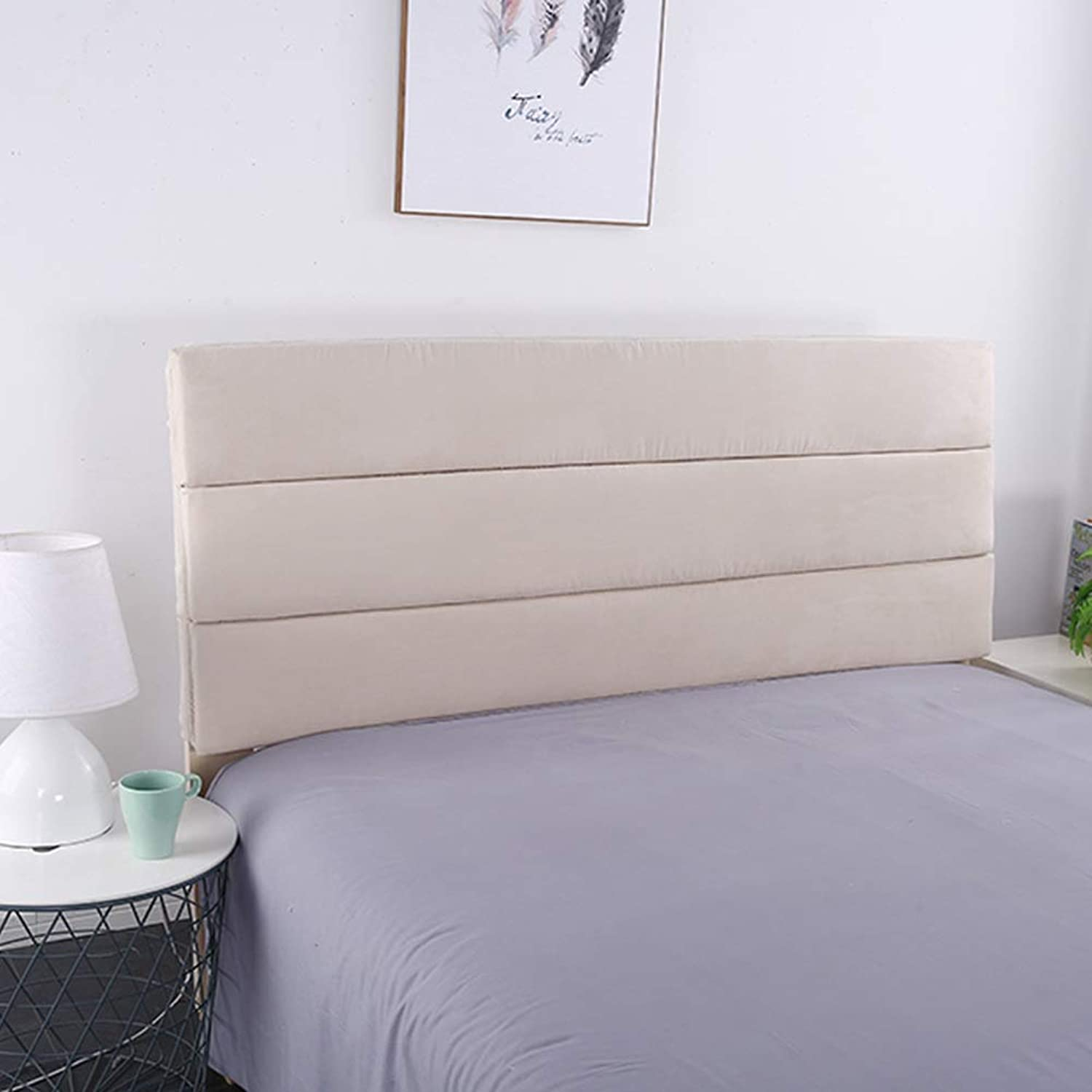 WENZHE Upholstered Fabric Headboard Bedside Cushion Pads Cover Bed Wedges Backrest Waist Pad Cloth Soft Case Skin-Friendly Soft Home Bedroom Backrest, Have A Headboard, 9 colors