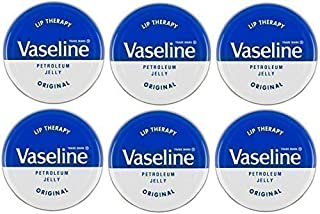 Vaseline Lip Therapy - Vaselina per labbra originale, 20g x 6 barattoli