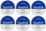 Vaseline, Lippenpflege Petroleum Jelly, 6 Dosen à 20g.