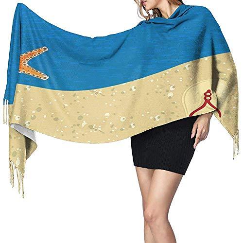 Zeester flip flop zee zand sjaal voor vrouwen grote sjaal wrap sjaal zachte warme sjaal gezellige sjaal wrap voor camping hardlopen party