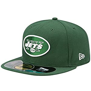 NFL New York Jets On Field 5950 Game Cap, Hunter Green, 7 3/8