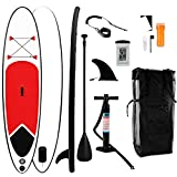 SOARRUCY nflatable Stand Up Paddle Board - Paddle Board Bags Contains 10ftx18in Paddle Board, Adjustable Paddle, Pump, Waterproof Bag for Mobile Phone, Bottom Fin for Paddling