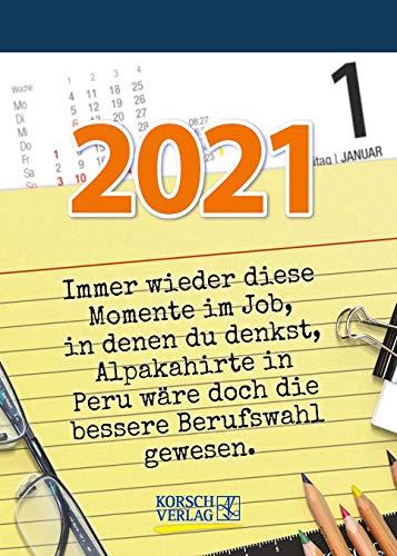 Visual Words Office 2021: TypoArt Tages-Abreisskalender mit witzigen Sprüchen zum Büroalltag.