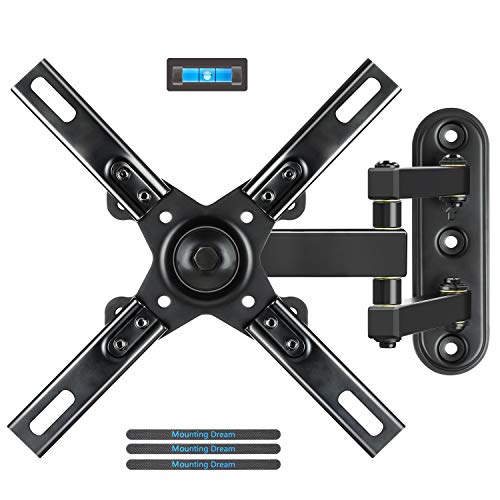 Mounting Dream Full Motion TV Wall Mounts Bracket with Articulating Arms for Most 17-39 Inches LED, LCD TV, Mount up to VESA 200x200mm and 33 lbs, with Tilt and Swivel MD2462