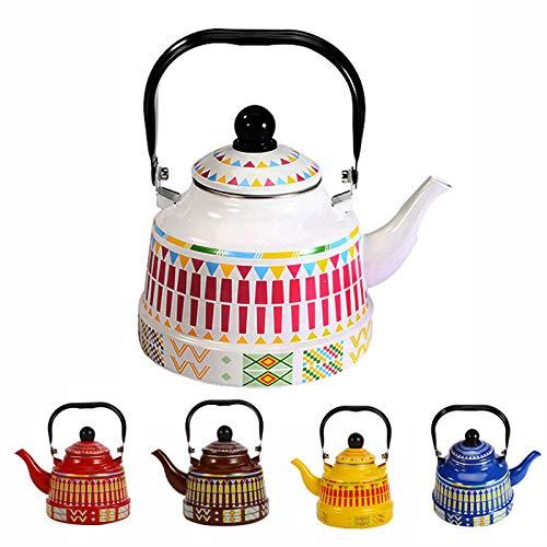 Acampar al aire libre ollas de agua esmaltados tetera tetera café té leche tetera medicina olla inducción cocina gas universal hogar-1.1L