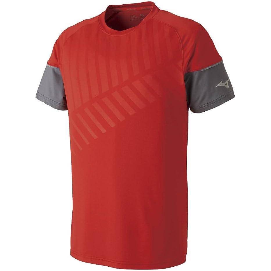 たっぷり描く咲く[ミズノ] テニスウェア ゲームシャツ 半袖 吸汗速乾 ドライ ストレッチ 部活 練習 試合 ソフトテニス バドミントン認定 男女兼用 62JA8021