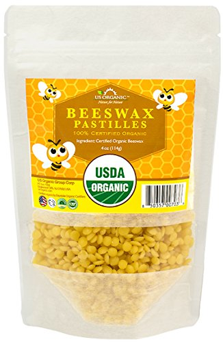 US Organic Beeswax 100% Pure Yellow Pastilles,