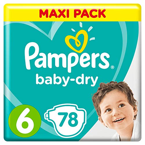 Pampers Baby-Dry Windeln, Gr. 6, 13kg-18kg, Dreier-Pack (1 x 78 Windeln)
