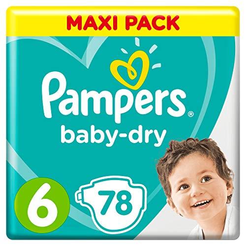 Pampers Baby-Dry Windeln, Gr. 6, 13kg-18kg, Dreier-Pack (1 x 78 Windeln)