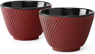 BREDEMEIJER Xilin INBG004R, inoxidable, röd, 7,8 x 7,8 x 5,3 cm
