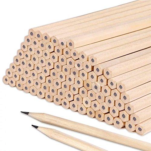 Lot de 100crayons HB en bois naturel pour enfants, étudiants, professeurs, au bureau, à l\'école - Fourniture de dessin, d\'écriture