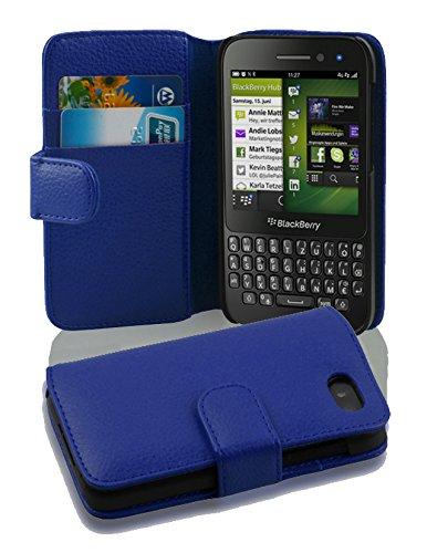 Cadorabo Hülle für BlackBerry Q5 - Hülle in KÖNIGS BLAU – Handyhülle mit Kartenfach aus struktriertem Kunstleder - Hülle Cover Schutzhülle Etui Tasche Book Klapp Style