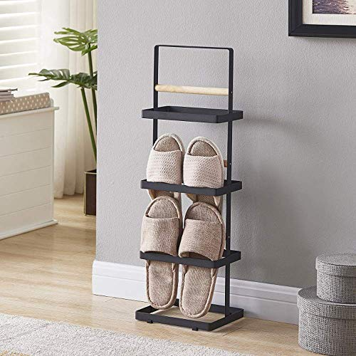 FCSF Zapatero de hierro forjado, fácil para el hogar, dormitorio, sala de estar, ahorro de espacio, estante de almacenamiento de varias capas (2 colores) zapatero para entrada (color blanco), 2, 2