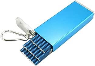 MJJD Stainless Steel Extra Slim Cigarette Case (Color : Blue)