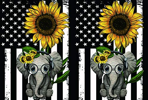 Galaxy Tab A 8.0 Inch Case (SM-T290 T295), Rossy Folio Stand Protective Cover Muti Angle Viewing with Auto Wake/Sleep for Samsung Galaxy Tablet A 8.0' 2019,Cute Elephant and Sunflower