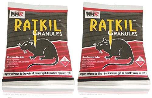 MMR Making Marvelous Advance Ratkil Granules Rat Killer Mouse Rodent Control (50gm x 2 Pieces)
