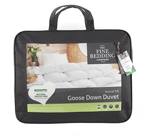 The Fine Bedding Company Lightweight Goose Down Single Duvet 10.5 Tog - Natural Anti Dust Allergy