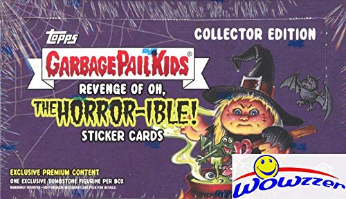 2019 Topps Garbage Pail Kids Revenge of Oh, The Horror-ible COLLECTORS HOBBY Factory Sealed Box with 1 HIT of Artist Autograph,Relic,Printing Plates or EXCLUSIVE Shaped or Triptych Sketch Card!WOWZZER