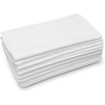 Mens Handkerchiefs 100/% Cotton Solid White Large Classic Hankies Bulk Set Of 12 Pack