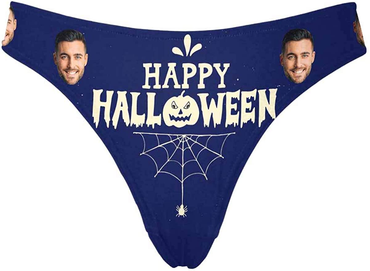 Custom Face Thong Personalized Woman Halloween Courier shipping Nippon regular agency free for Party Brief