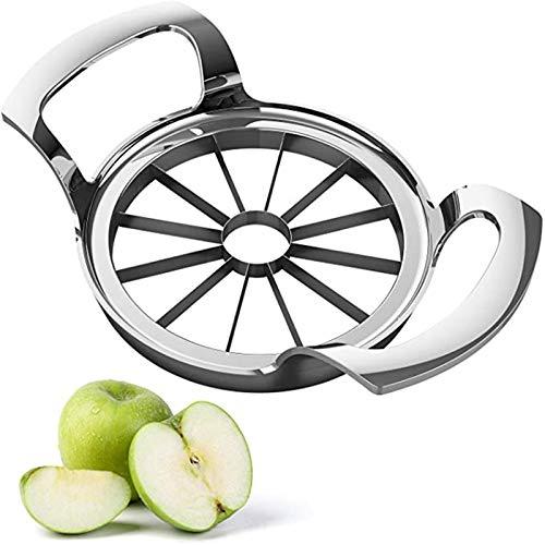 りんごカッターステンレス鋼アップルスライサー、12ブレード特大アップルコアラー、リンゴ、梨、オレンジ用の鋭いブレードを備えたイージーグリップフルーツスライサー