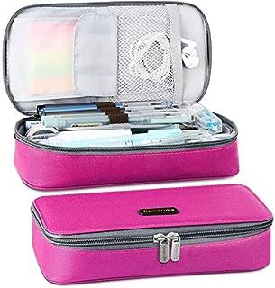 Homecube Big Capacity Pencil Case Oxford Cloth Bag Storage Pouch Marker Pen Pencil Cute Stationery Organizer Bag Holder wi...
