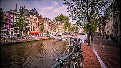 Rompecabezas Rompecabezas Adulto 1000 Piezas Vista del Canal De Amsterdam Puzzle De 1000 Piezas