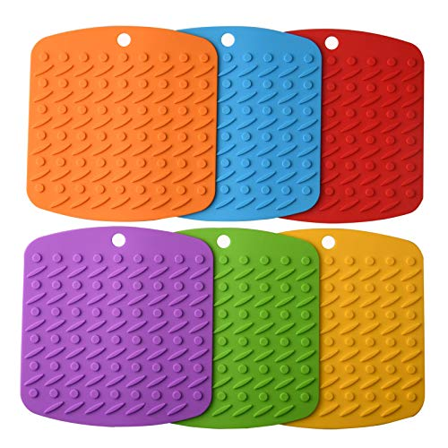 Aibrisk Silicone Trivets Mats, Silicone Pot Holders for Hot Dishes Hot Pads for Kitchen, Spoon Rest...