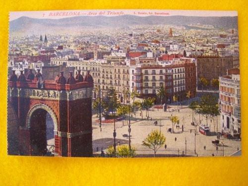 Antigua Postal - Old Postcard : BARCELONA - Arco de Triunfo - España