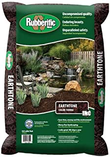 dark brown shredded rubber mulch