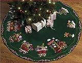 Bucilla Felt Applique Chtistmas Tree Skirt Kit, 43-Inch Round, 86158 Candy Express