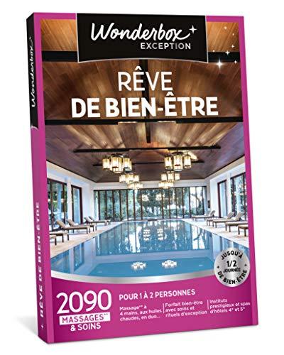 Wonderbox - Coffret cadeau femme - RÊVE DE BIEN ÊTRE - 2090 soins: massages, modelages, gommages, hammam, spa
