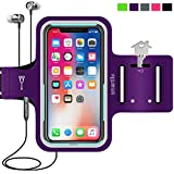 smartlle iPhone & Phone Armband Running Workout Holder for iPhone X/XS,8/7/6s/6, Samsung Galaxy...