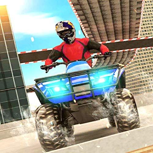 Tricky Stunts für Quad-Bikes: Leichte ATV-Bike-Spiele 2020 - Mega Ramp Impossible Tracks Fahrsimulator: Ultimative ATV Quad-Motorrad-Stunt-Rennen 3D-Spiele 2020