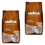 Lavazza Crema e Aroma, Café en Grano, Pack de 2, 2 x 1000g