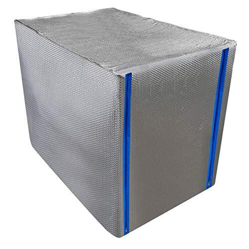 REKUBIK IBC Thermohaube mit Reißverschluss Frostschutz Tankgröße 600l IBC (120x80x100cm)