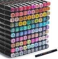 100 kleuren kunststiften Op alcohol gebaseerde markers, dubbele tips Op alcohol gebaseerde markers, professionele...