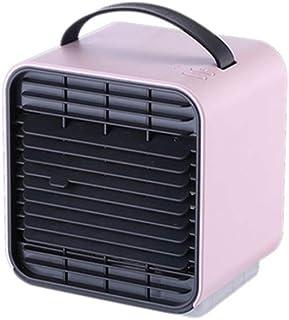 YZXZM Mini Refrigerador De Aire, 5-En-1 Negativo Ion Portátil Ventilador, Purificador De Aire/Humidificador/Enfriador Luz/Noche, Mini Acondicionador De Aire De Carga USB 3 Velocidad,Rosado