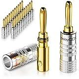 deleyCON 24x Bananenstecker als Set Vergoldet Schraubbar für Lautsprecherkabel 0,75mm - 4mm & z.B....