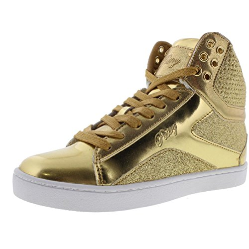 Pop Tart Glitter Women's Sneaker, Gold, 7.5