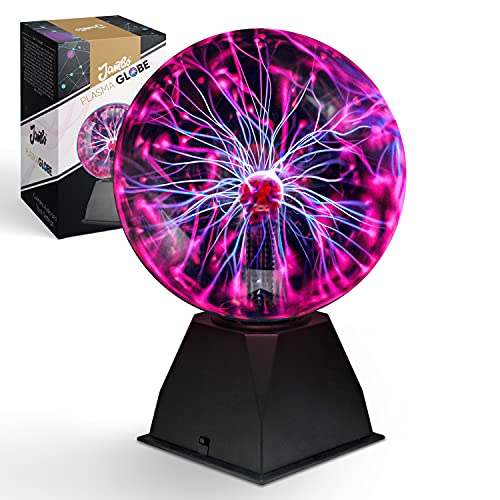8' Inch Plasma Ball (Electric Red/Blue, Ball)   Awesome Touch & Sound Sensitive Plasma Globe   Interactive Cool Room Decor That Kids Love   Great Christmas Gift Idea for Boys & Girls