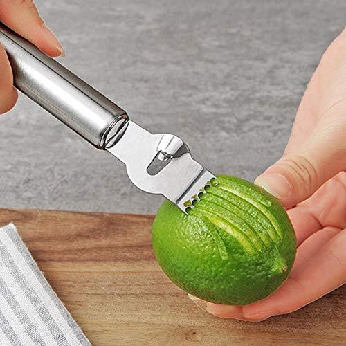 Case Cover 1pc Citrus Lemon Zester Peeler Reibe Edelstahl, Für Gin Cocktails, Kalk Orangen, Küche-Werkzeug