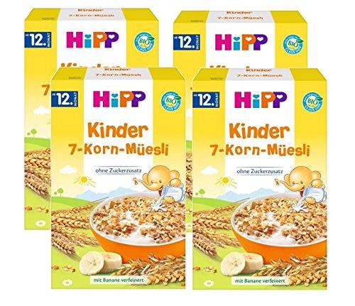 Hipp Kinder Muesli 7 grains, 4 pièces (4 x 200 g)