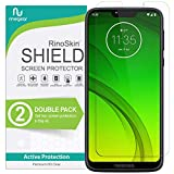 (2-Pack) RinoGear Screen Protector for Moto G7 Power Case Friendly Moto G7 Power Screen Protector Accessory Full Coverage Clear Film